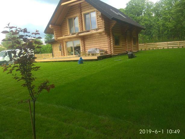 Zakładanie trawników, koszenie, drenaż, trawnik z siewu