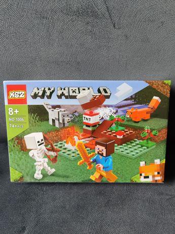 Minecraft Klocki Myworld ala minecraft NOWE o jakości lego -4 figurki