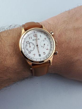 Bulova Chronograph GOLD - piękny, elegancki zegarek.