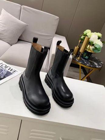 Ботинки кожа ∎ BOTTEGA VENETA LUG BOOTS ∎ Люкс качество ∎