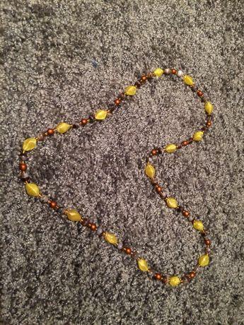 Korale - żółto - brązowo - szare