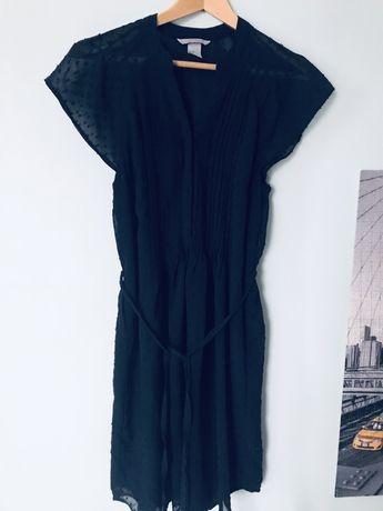 H&M sukienka granatowa