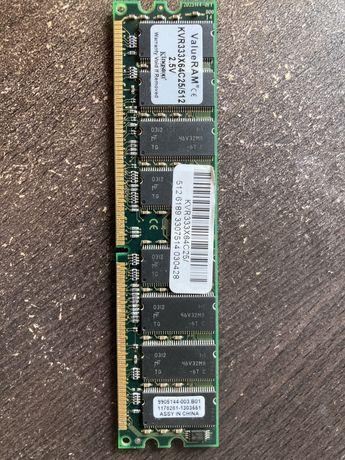 Memória RAM Kingston 512mb KVR333X64C25/512