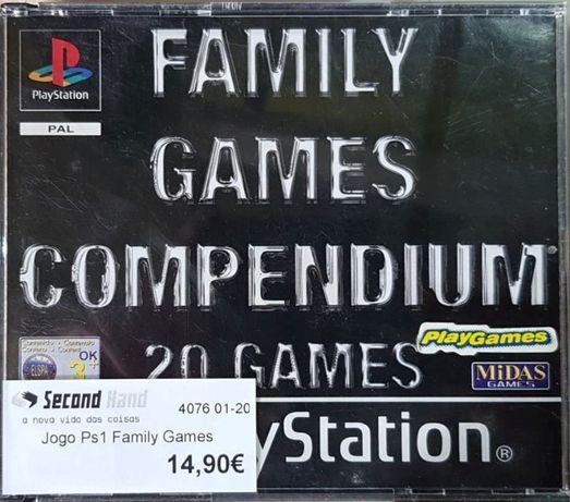 Jogo Ps1 Family Games Compendium 20 Games