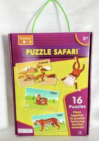 Большие пазлы с животными на английском Puzzle Tots, 16 шт (3+)