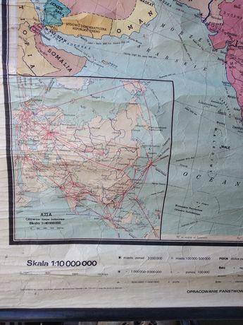 Azja stara mapa szkolna