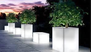 Floreiras com luz
