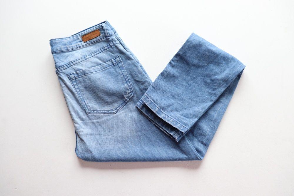 Spodnie damskie jeans Opus LISENKA Jeansy Relaxed fit niebieskie r. 36