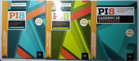 Pi 8 Matemática - manuais e cadernos de atividades-NOVOS