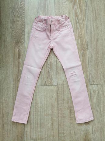 H&M rurki różowe r. 122 spodnie +GRATIS bluza