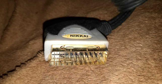 Kabel NIKKAI Scart EURO - 3x chinch
