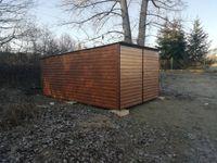 garaż drewnopodobny, 3x5, garaże blaszane, blaszaki, wiaty, hale