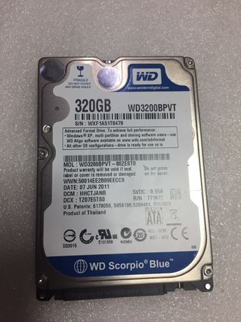 Disco 320gb sata Western digital como novo
