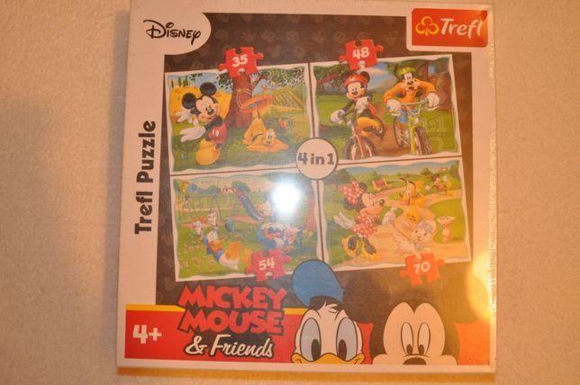 Trefl puzzle Myszka Miki 4w1 nowe zafoliowane