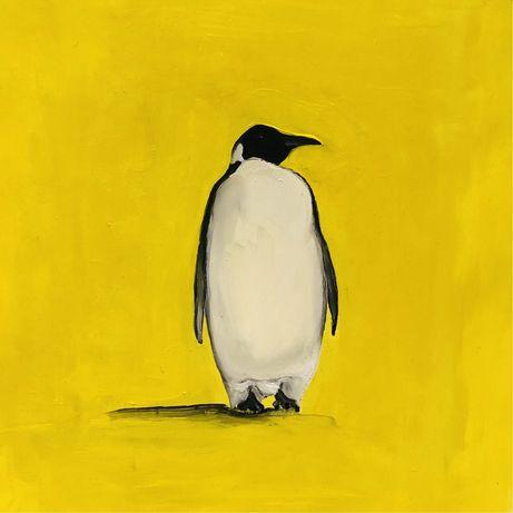 Pingwin - obraz olejny na kartonie