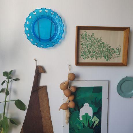 Prato Depósito Marinha Grande com vidro manual soprado 20 cm