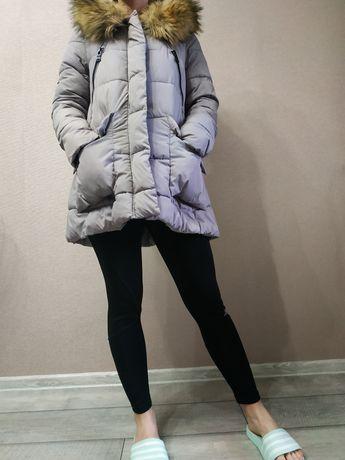 Курточка зимняя теплая с мехом Xue Ying