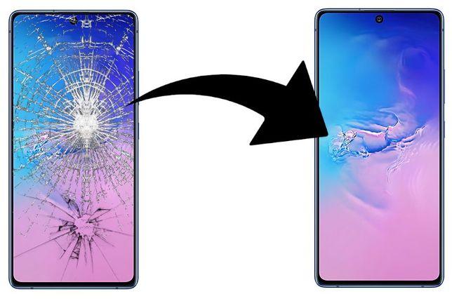 wymiana szybki S7 S8 S9 S10 NOTE 8 9 10 naprawa wyswietlacza samsung