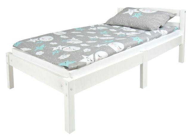 Drewniane łóżko białe Clasic 140/70 z materacem 102/246233