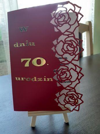 Kartki 30,40,60 lat, urodziny, podziękowania, własnoręcznie zrobione,