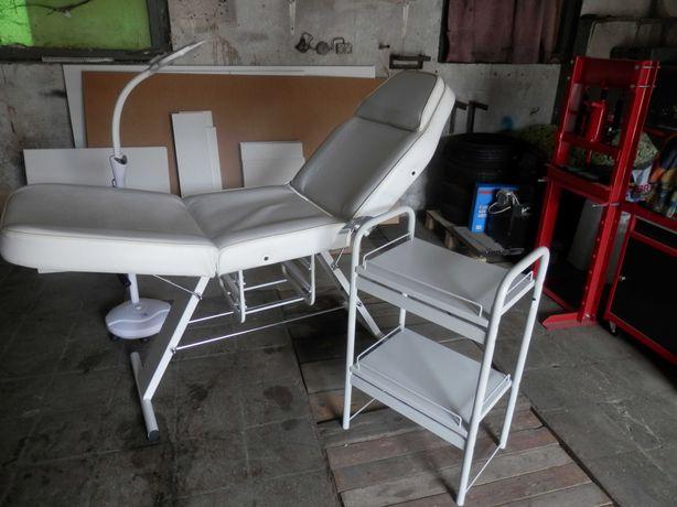 fotel kosmetyczny plus lampa i stolik
