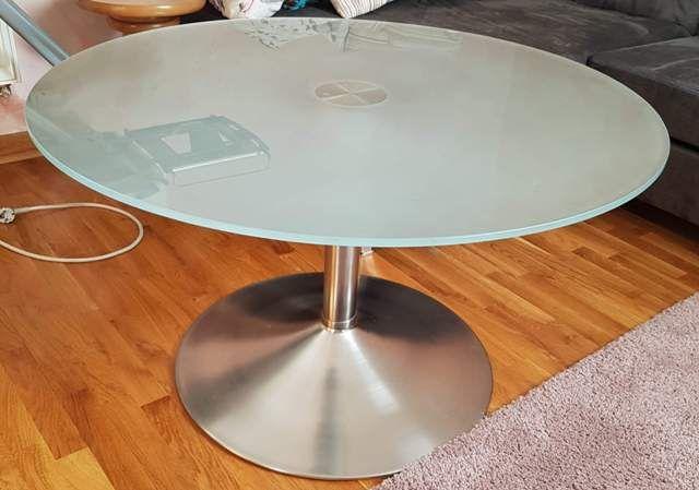 Stolik szklany Stół Ława szkło blat 90cm