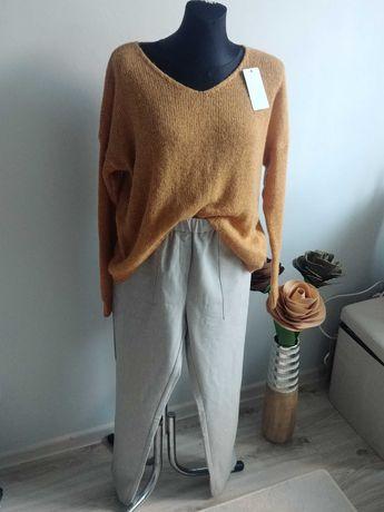 Sweter camel r. XL
