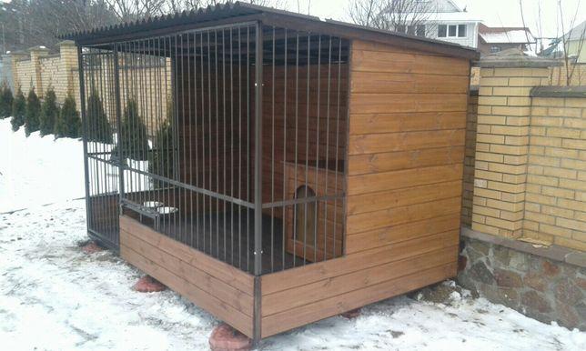 Вольеры для собак, утепленные будки