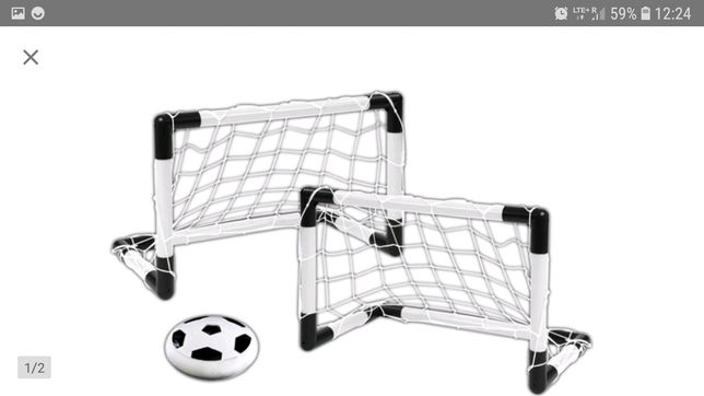 Zestaw piłkarski z piłką powietrzną i bramką
