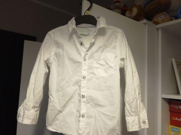 Białe eleganckie koszule h&m