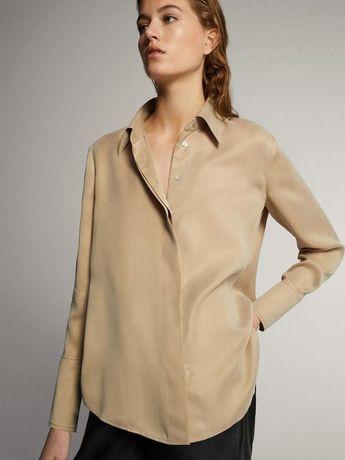 Massimo Dutty шелковистая оверсайз рубашка из эко-ткани ХС-С