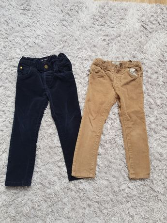 Spodnie sztruksy Zara