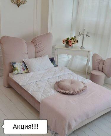 Акция.Бант детская мягкая, модная,стильная кровать.