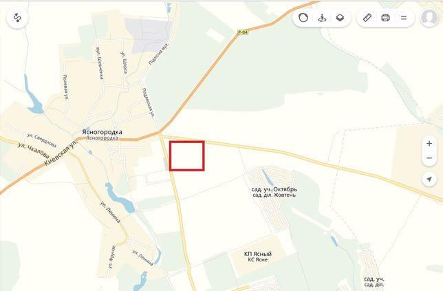 Продажа земли 2,5 га перекресток перед Ясногородка(Макаровский)