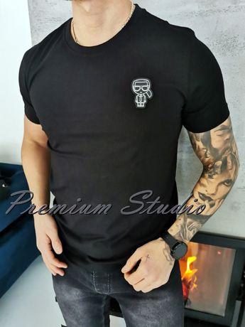 XXL / Karl Lagerfeld męska koszulka tshirt czarna