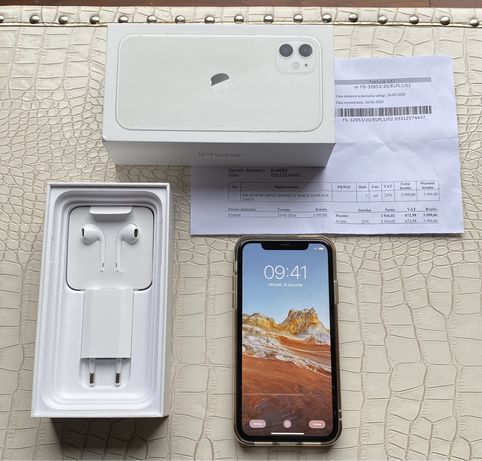 OKAZJA ! Apple iPhone 11 White 64GB PL - FV GW.