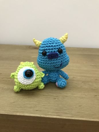 Mike e Sulley em crochet / amigurumi