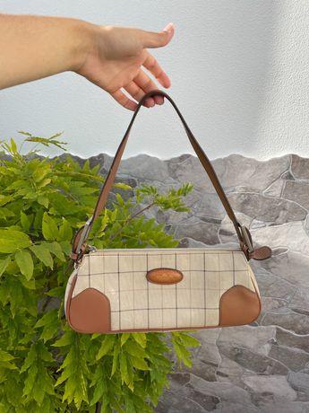 mala carteira baguette bag vintage Marta Punti pele genuína, burberrys