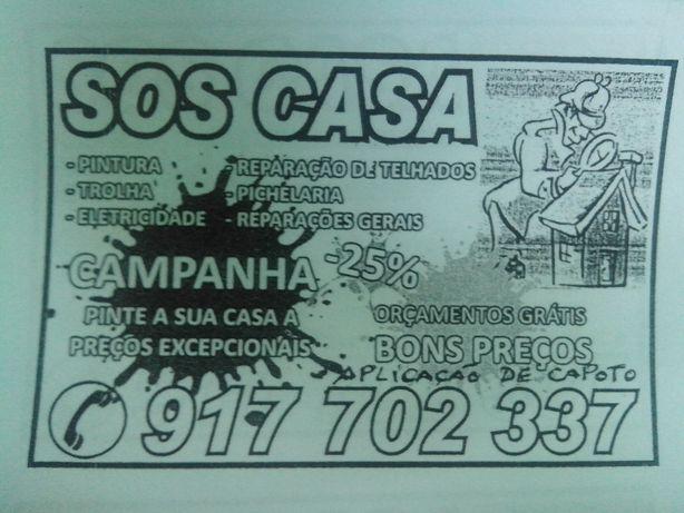 SOS CASA obras e recuperaçoes de casas