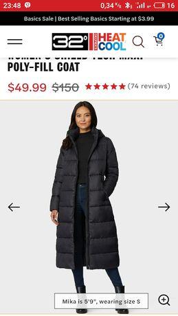 Пальто пуховик с американского сайта 32 degrees