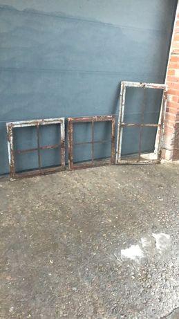 Stare okna żeliwne metalowe Loft