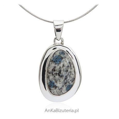 ankabizuteria.pl Biżuteria srebrna - Zawieszka srebrna z kamieniem z K