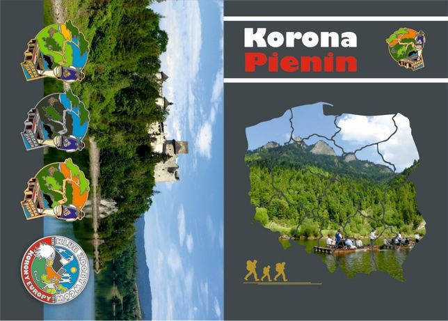 Książeczka turystyczna KORONA PIENIN polsko-słowackich