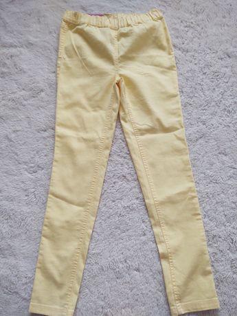 Jegginsy 158 164 żółte dla dziewczynki neon