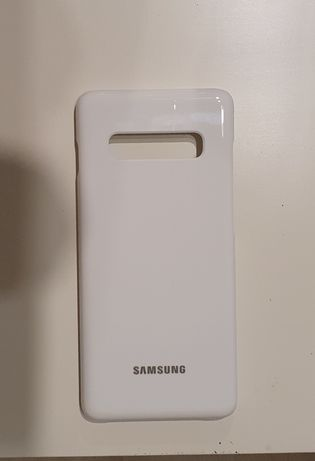Oryginalne etui case do Samsung Galaxy s10+ plus led cover White