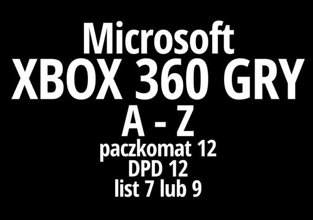 """Gry na konsole """"A-Z"""" Xbox 360 / X360 - wysyłka lub odbiór"""