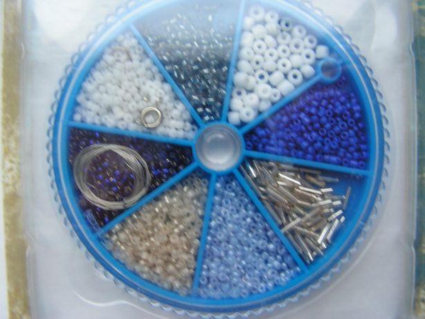 Koraliki w odcieniach niebieskich - zestaw do samodzielnego wykonania