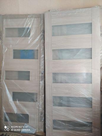Новые двери с ПВХ покрытием, влагостойкие !