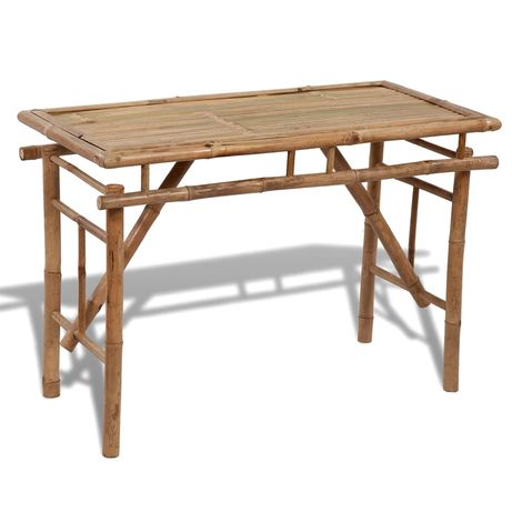 vidaXL Mesa de jardim dobrável 120x50x77 cm bambu 41505