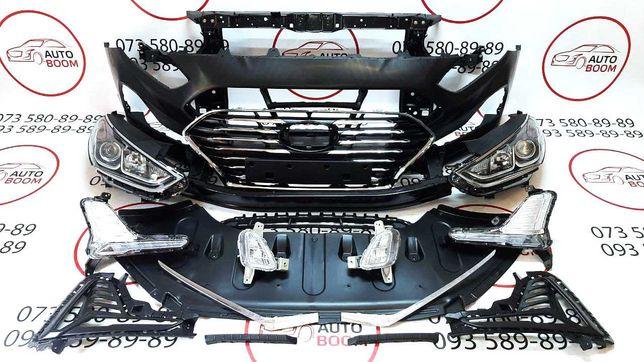 Бампер передний решетка усилитель Hyundai Sonata 2018 2019 Соната